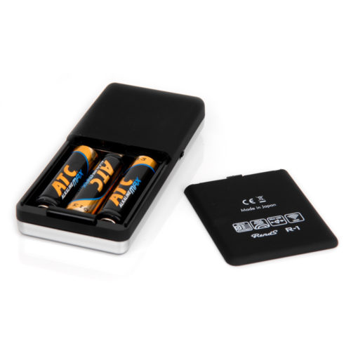 What is needed are three AA sized batteries. It works with any kind but we recommend alkaline batteries.