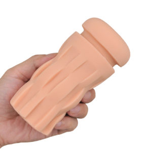 The inner sleeve; about the average size of a middle-sized handheld stroker with soft, thick walls. Can be used without inserting it in the sleeve as well.