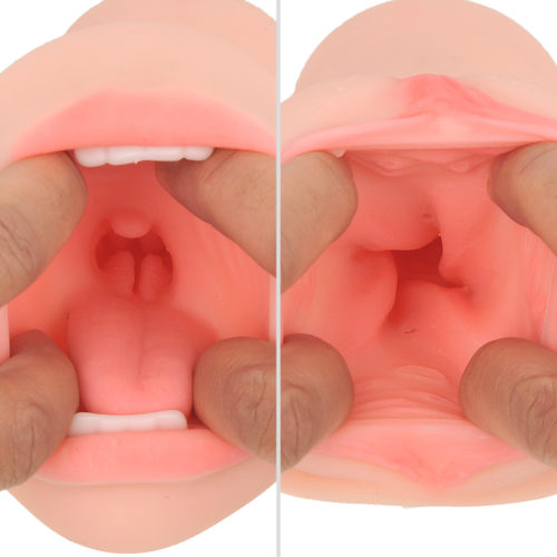 For the oral side there are the bumps at the depths of the throat, and for the vaginal side are the spiral, bulged-walls that lead you to an explosive orgasm.