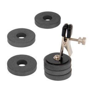 重りは1つ約17グラム。それが6個あるので、クリップも含めると総重量は116グラムに! (※数値はRENDS実測値)