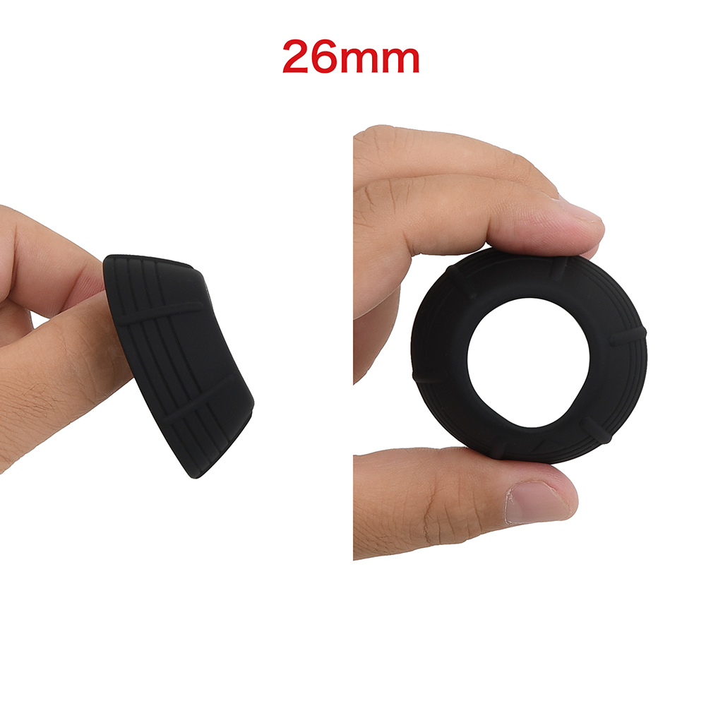 """The largest inner diameter of all seven sizes is 26mm (1.02""""). Made to fit those with a size larger than the average."""