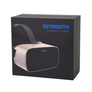 The HMD comes in a stylish package that can also be used for storing.