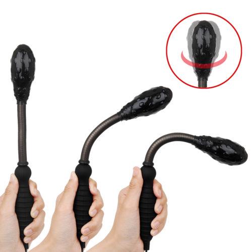本品の最大の売りであるフレキシブルパイプの柔軟性。加えてヘッド部も膣壁に密着できるよう可変でき、様々利用スタイルが楽しめます。