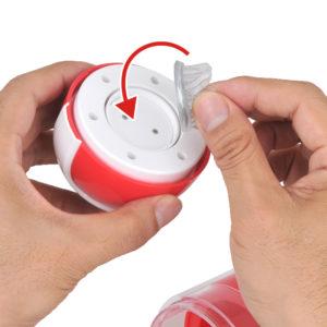 アタッチメント脱着はマグネット式。ご利用の際は接続部からの浸水にご注意のうえ、ローション等は控えめに。