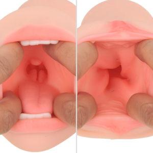 おクチはのど奥の突起が、ヴァギナは螺旋状に隆起した肉壁が、それぞれ強烈に刺激。射精力も優秀です。
