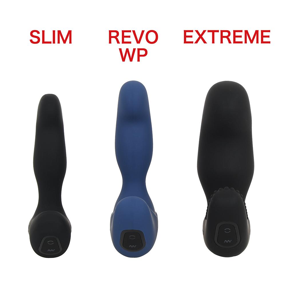 """基幹モデルである""""REVO WP""""と、細身シャフトの""""SLIM(スリム)""""と並べてみました。で、でけぇ…。"""