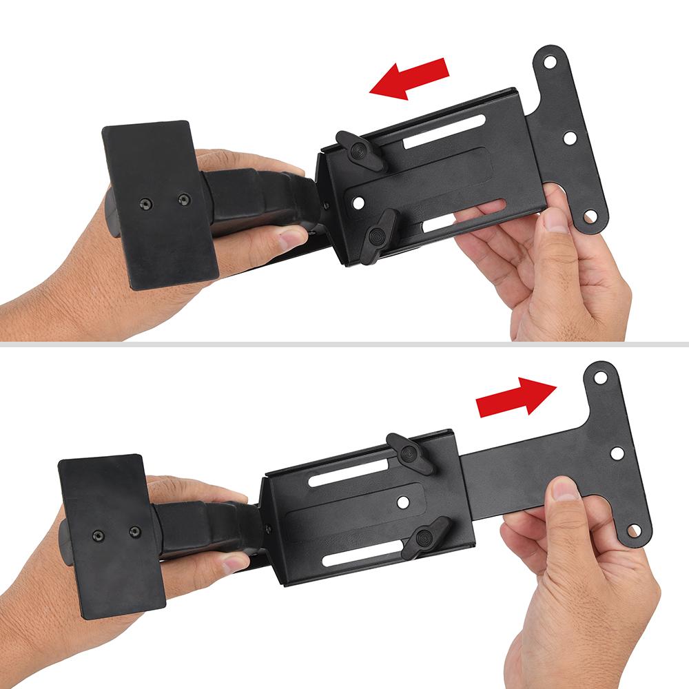 T字プレートをスライドさせれば、マシンの前後位置を調整できます。可動域も十分です。