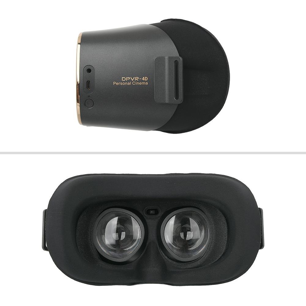 中央にあるセンサーが脱着状態に応じて、自動的に動画を再生/停止させます。メガネ着用のまま装着できるのも便利。