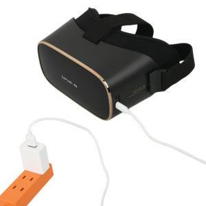 USB充電式。4000mAhのバッテリーを搭載し、連続使用は最大で約5時間。LEDが赤くなったら要充電です。