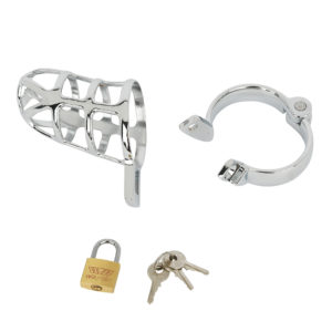 パーツ構成は竿用カバーと根元用リング、それを繋ぐ南京錠です。カギは3つ付属しますが、万一に備えて1つは自己管理しましょう。